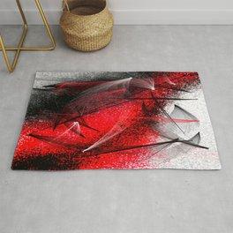under the spotlight abstract digital painting Rug