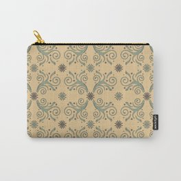 Flowers & Flourishes, cream & green Carry-All Pouch