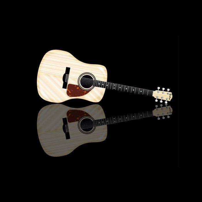 Pale Acoustic Guitar Reflection Comforters