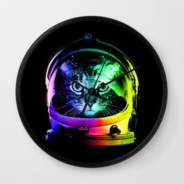 Astronaut Cat Wall Clock