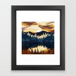 Fall Sunset Framed Art Print