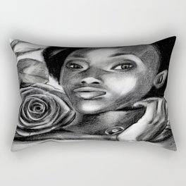 Pretty Blacky Rectangular Pillow