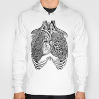 lungs Hoodies featuring Lungs by Orange Blood Gallery