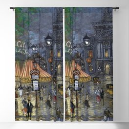 Paris Place de l'Opéra, 9th arrondissement, boulevard des Italiens, boulevard des Capucines painting by Konstantin Korovin Blackout Curtain