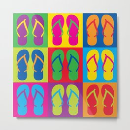 Pop Art Flip Flops Metal Print