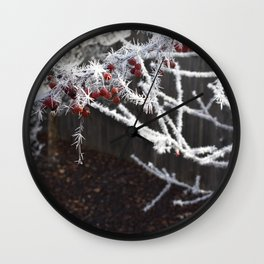 Frost Spiked Crabapple Tree Wall Clock