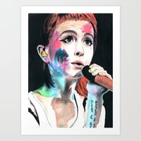 hayley williams Art Prints featuring Hayley Williams by alice kasper