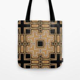 Black Gold Geometry Tote Bag