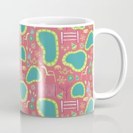 Hot Springs Spa Day - Pattern by Mellie Test Coffee Mug