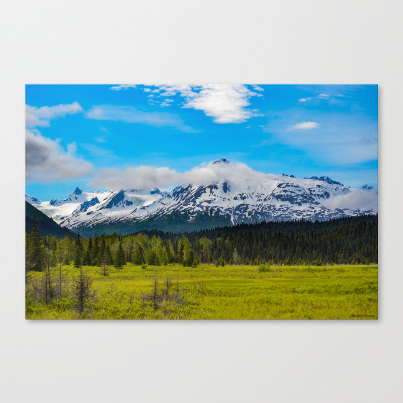 Bear_Creek Mountain Glacier II - Alaska Canvas Print