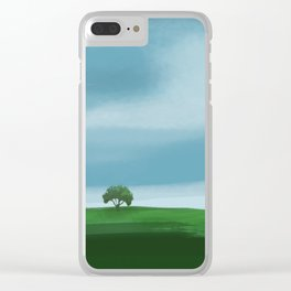 Clouds Rolling In Over Lone Tree Clear iPhone Case
