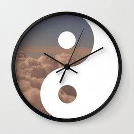 Yin Yang Clouds Wall Clock