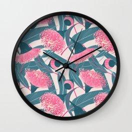 Dreamy eucalyptus Wall Clock