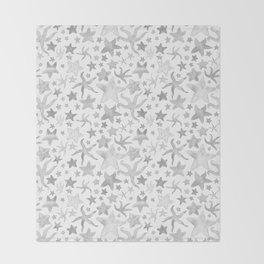 Grey Starfish Pattern - Light Throw Blanket