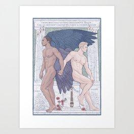 Hypnos and Thanatos (Sleep and Easeful Death) Art Print