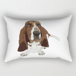 Basset Hound Dog Rectangular Pillow