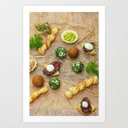 Mini foods Art Print