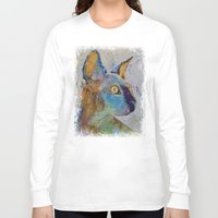 sphynx Long Sleeve T-shirts featuring Sphynx Cat by Michael Creese