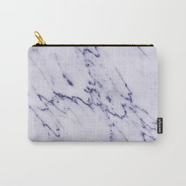 Deep Blue Streaked Marble Carry-All Pouch