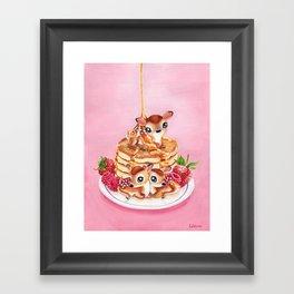 Three Pancake Deer Framed Art Print