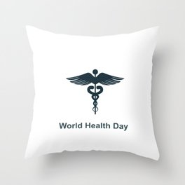 World Health Day Throw Pillow