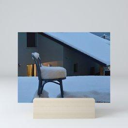 Snowy chair Mini Art Print