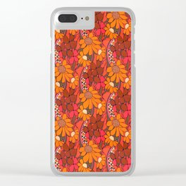 Groovy Flowers Clear iPhone Case