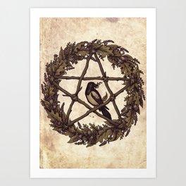 Botanical Pentacle: Wild Witch Art Print