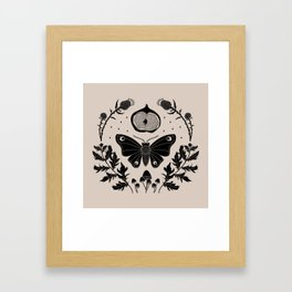 Moth, Mugwort & Mushrooms Framed Art Print