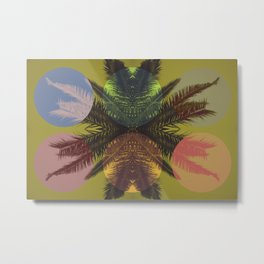 Palm tree and shapes Metal Print