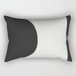 Minimal Black Rectangular Pillow