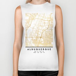 ALBUQUERQUE NEW MEXICO CITY STREET MAP ART Biker Tank