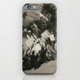 John Singer Sargent - Rehearsal of the Pasdeloup Orchestra at the Cirque d'Hiver iPhone Case