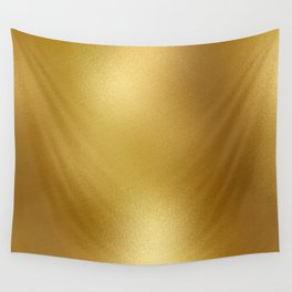 Pure Gold Print Wall Tapestry