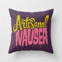 Artisanal Nausea Throw Pillow