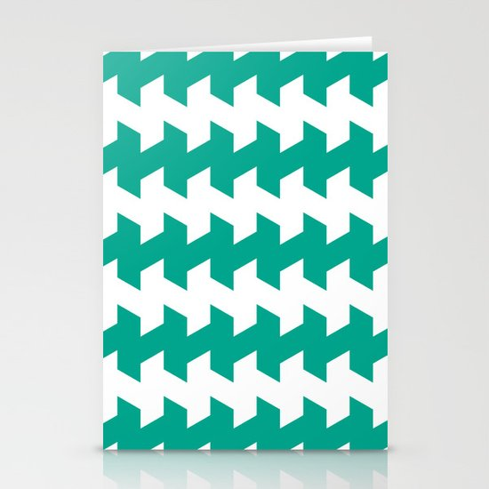jaggered and staggered in emerald Stationery Cards