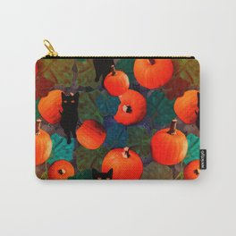Pumpkins and Black Cats Carry-All Pouch