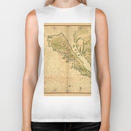 Map Of California 1650 Biker Tank