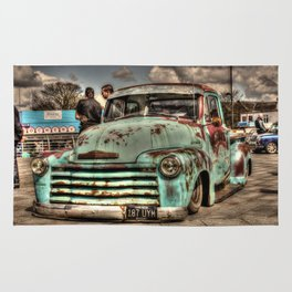 Rusty Chevrolet HDR Rug