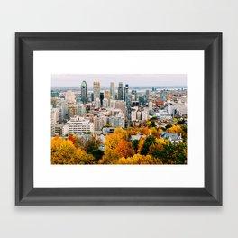 Fall in Montréal Framed Art Print