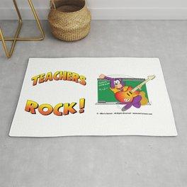 TEACHERS ROCK Side by Side Rug