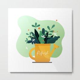 Refresh - Plant Jar Metal Print