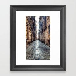 streets of barcelona Framed Art Print