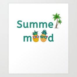 Summer Mood Pineapple Palm Trees Art Print