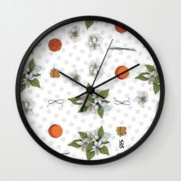 Biscotti all'arancia Wall Clock