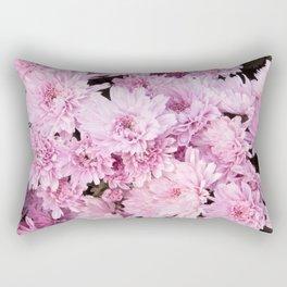 A Sea of Light Pink Chrysanthemums #1 #floral #art #Society6 Rectangular Pillow