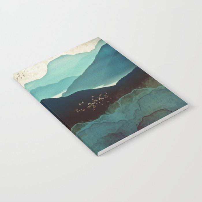 Indigo Mountains Notebook Watercolor Notebooks Society6
