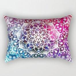 Namaste Red Purple Blue Mandala Rectangular Pillow