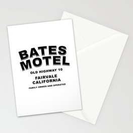 Psycho inspired Bates Motel logo Stationery Cards