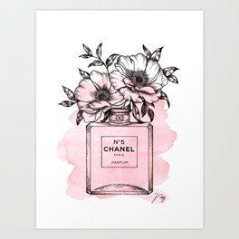 Floral Fragrance Pink Art Print